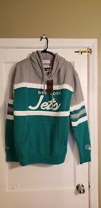 100% Authentic Mitchell & Ness NY Jets Hoodie Sweatshirt Sz 2XL NWT