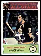 1975-76 TOPPS PHIL ESPOSITO BOSTON BRUINS #292