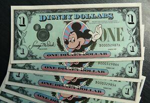 DISNEY DOLLAR MICKEY 1 x DOLLAR 1987 UNC