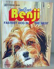 Vintage Golden Book ~ BENJI FASTEST DOG IN THE WEST ~ Oversized