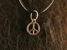 Anhänger mit Kette 24 Karat Vergoldet Peace Frieden Zeichen Freedom