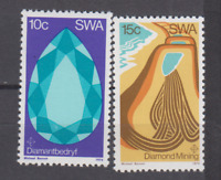 PP275 - SWA SOUTH AFRICA 1974 - MINERALS/DIAMOND MINING 2v MNH
