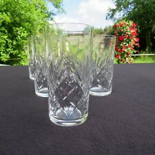6 verres  : chopes à orangeade en cristal de saint louis modèle massenet signé 1