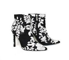Zara Stiefeletten mit stickerei 36 Pumps High Heels schwarz weiß GZSZ Neu