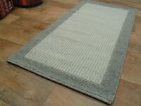 nr 1835 handgewebter Teppich Kelim Kilim aus Wolle ca 136 x 70 cm NEU Grau Beige