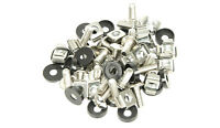 """20 PACK BLACK M6 CAGE NUTS BOLTS WASHERS FOR 19"""" RACK MOUNT CABINETS 15mm THREAD"""