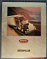 1995-1996 Peterbilt Truck Caterpillar Engine 3406E Brochure Sheet Excellent Orig
