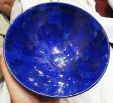 Lapis lazuli bowl 7.48 Inches wide hand made bowl from Badakhsan Afghanistan