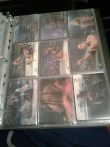 2001 Artbox WWE WWF Wrestling Lenticular 40 card set and set 4 3d Chase Cards