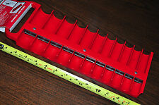 """RED PLASTIC 1/2"""" IN DR DRIVE MAGNETIC SOCKET ORGANIZER STORAGE RACK HOLDER TRAY"""