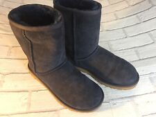 Genuine UGGS LADIES NAVY BLUE SUEDE FLAT MID CALF BOOTS UK SIZE 5.5