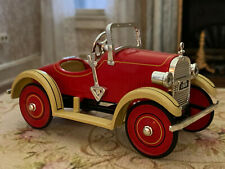 Vintage Dollhouse Miniature Red Chrome Old Fashioned Kiddie Car 1920s Style