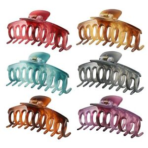 6 PCS Large Hair Claw Clips for Women, Crystal Claws Clips for Women/Girls, B...