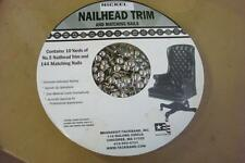 NEW Nickel Nailhead Trim & Matching Nails-10 Yds-144 Nails