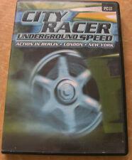 CITY RACER UNDERGROUND SPEED  PC CD-Rom Action in Berlin, London, New York