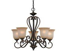 Oil Brushed Bronze w/Gold Accents 5 Light Indoor Chandelier