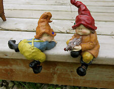 Garden woodland Gnomes Kids With Chicken Climbing  shelf sitters Anthony Fisher