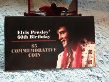 NOS ELVIS PRESLEY 60TH BIRTHDAY MARSHALL ISLANDS $5.00 COMMEMORATIVE COIN