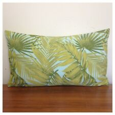 50x30cm Lumbar Terrasol Indoor/Outdoor Green/Pale Blue Tropicana Cushion Cover