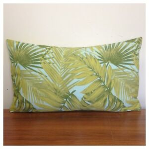 50x30cm Lumbar Terrasol Indoor/Outdoor Green/Pale Blue Tropicana Cushion Cover