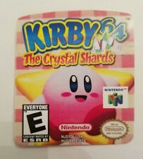 Kirby 64 The Crystal Shards Nintendo 64 Label Sticker Precut