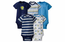 SFK Gerber Baby Boy Lion Short Sleeves Onesies, 0-3mos, Pack of 5 baby bodysuit
