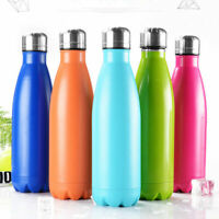500ml Stainless Steel Water Bottle Vacuum Insulated Gym Drinks Thermos Flask