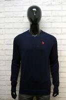 Maglione US POLO ASSN Uomo Taglia XL Pullover Sweather Cardigan Cotone Blu Man