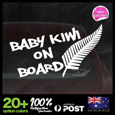 Baby Kiwi on Board 195x99mm Window Funny Car Decal Vinyl Sticker New Zealand