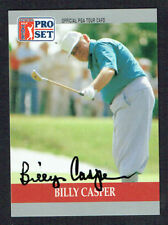 Billy Casper #81 (d. 2015) signed autograph auto 1990 Pro Set Golf Trading Card