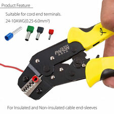 0.25-6.0mm² Wire Crimpers Engineering Ratchet Terminal Crimping Pliers Tool L400