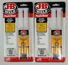 2 Pack J B Weld Plastic Weld Gel Epoxy Quick Setting 85 Oz Syringe 50132