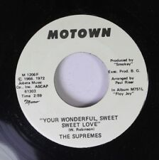 Soul Promo 45 The Supremes - You Wonderful, Sweet Sweet Love /  On Motown