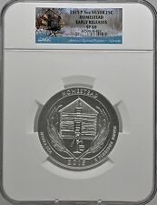 2015 5oz SILVER 25C Homestead NGC SP 69 Early Releases must see!