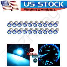 20X Ice Blue BA9S COB Chip High Power 2W LED Bulb Lamp DC12V T4W 3886X H6W 363