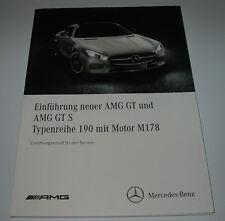 Werkstatthandbuch Mercedes AMG GT + GT S C 190 Motor M 178 V8 Stand 2015!