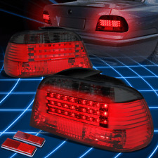 For BMW 1995-2001 BMW E38 7-Series Smoked Housing Red LED BrakeTail Lights/Lamps