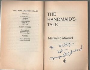 SIGNED MARGARET ATWOOD THE HANDMAID'S TALE REPRINT EDITION PAPERBACK 1992