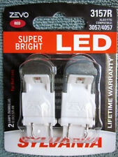 Sylvania Zevo Super Bright Red 3157R 3057 4057 LED 12v 0.4/1.5W - 2 NEW Bulbs