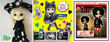 Set 3 Mini Little Pullip Rida + vampire dido + witch + stand + punk lolita goth