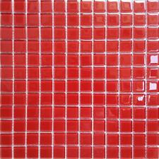 Red Glass Mosaic Bathroom Shower Splashback Mosaic Wall Tiles (GTR10022)
