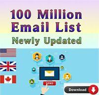 100 Million Worldwide Email Database Marketing List +Bonus 2020 24Hours delivery