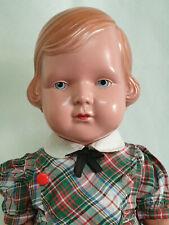 Hermosas viejas cellba muñeca Rita? pelo rojo 43 cm Celluloid antiguo náyades caracteres