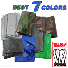 Tarpaulin Regular And Heavy Duty Waterproof Cover Tarp Ground Sheet 42 Options