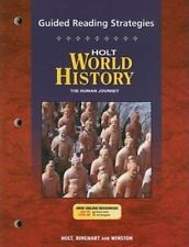 Holt World History: Human Journey: Guided Reading Strategy Grades 9-12