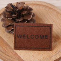1Pc Dollhouse miniature welcome floor mat carpet rug doll house accessories