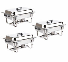3 PACK  DISH SETS 8 QT  CATERING STAINLESS STEEL CHAFER CHAFING FULL SIZE BUFFET