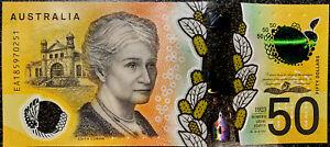 💫 Rare EA Last Prefix Australia $50 Dollar Banknote 2018 Print AUS Note☄️ 50