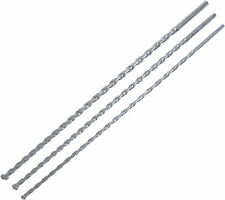 3pc MASONRY DRILL BIT SET 8mm 10mm 12mm x 400mm LONG HEAVY DUTY METAL BRICK BLOC