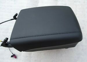 PORSCHE CAYENNE TURBO S GT S 03 -10 NEW BLACK LEATHER ARM REST WITH GLOVE BOX